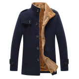Harga Musim Dingin Menebal Mantel Laki Laki Rekreasi Korea Type Slim Tipe Panjang Menebal Bulu Mantel Jaket Branded