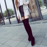 Harga Musim Dingin Hangat Di Atas Lutut Wanita Tinggi Sepatu Kasual Suede Flat Sepatu Lace Up Kasual Internasional Not Specified Tiongkok