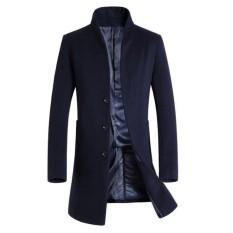 Beli Musim Dingin Wol Mid Long Bisnis Dan Ritsluiting Gaya Kasual Slim Fit Jaket Untuk Pria Navy Blue Intl Not Specified Murah