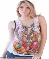 Wish AliExpress EBay Model Ledakan Wanita Tanpa Lengan Rompi Gajah Cetak T-shirt-Intl
