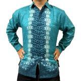 Beli Wishop Baju Kemeja Batik Pria Modern Lengan Panjang Baru