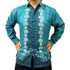 Jual Wishop Baju Kemeja Batik Pria Modern Lengan Panjang