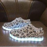 Beli Bersamaku Led Light Up Sepatu 11 Warna Berkedip Rechargeable Olahraga Menari Sneakers Untuk Mens Womens Boys Girls Floral Intl Pakai Kartu Kredit