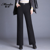 Spesifikasi Korea Fashion Style Musim Semi Baru Pinggang Tinggi Celana Cargo Kulot Hitam Lengkap Dengan Harga