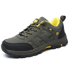 Jual Wolideng Wanita Outdoor Mesh Leather Hiking Shoes Pasangan Hijau Intl Online Di Tiongkok