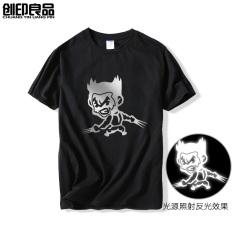 Perbandingan Harga Wolverine Film Zhou Bian Lengan Pendek T Shirt Hitam Di Tiongkok