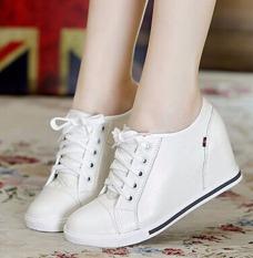 Fashion Wanita Tersembunyi Baji Hak Sepatu Kasual Renda Up Ukuran 32 40 Oem Diskon 40