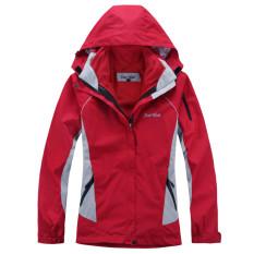Promo Toko Wanita Outdoor Jaket Dua Potong Tiga Dalam Satu Tahan Air Tahan Angin Bernapas Miss Removable Mountaineering Ski Setelan Merah