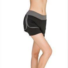 Promo Wanita Musim Panas Baru Olahraga Kebugaran Celana Pendek Ladies Outdoor Menjalankan Gym Yoga Kecepatan Kering Shorts Warna Abu Abu Intl Murah