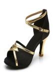 Harga Woman S Ballroom Salsa Dance Shoes Latin Dance Shoes For Girls Stilettos225 Black Paling Murah