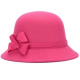Diskon Produk Wanita Musim Gugur Musim Dingin Retro Fedora Bowler Wol Hat Street Dingin Bukti Basin Cap Naik Merah Internasional