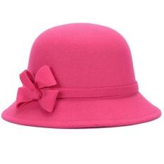 Harga Wanita Musim Gugur Musim Dingin Retro Fedora Bowler Wol Hat Street Dingin Bukti Basin Cap Naik Merah Internasional Paling Murah