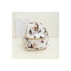 Wanita Backpack Baru Terbaik Jual Hot Fashion Casual Floral PrintingBackpacks PU Kulit Backpack untuk Remaja Putri Mochilas (Putih) -Intl