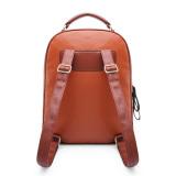 Harga Wanita Ransel Gadis Tas Sekolah Mahasiswa Pu Leather Travel Rucksack Brown Branded