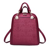 Ulasan Women Backpacks Soft Leather Bags Shoulderbags For Girls Female Outdoor Travel Sports Bag Red