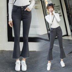 Perbandingan Harga Wanita Bootleg Jeans Denim Bootcut Pants Leisure Sembilan Jeans Burr Manset Slim Celana Intl Oem Di Tiongkok
