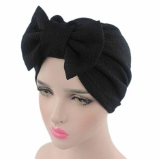 Jual Women Bow Cancer Chemo Hat Beanie Scarf Turban Head Wrap Cap Bk Intl Grosir