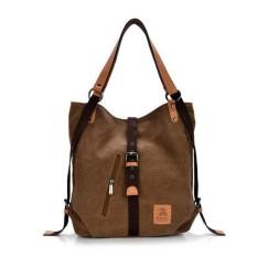 Jual Women Canvas Casual Multifunctional Microfiber Leather Large Capacity Handbag Shoulder Bags Backpack Intl Not Specified Murah