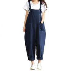 Wanita Casual Blue Spaghetti Strap Denim Jumpsuits Overall Rompers Rok Gaun-Intl