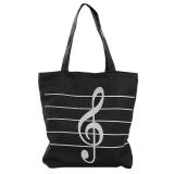 Harga Wanita Casual Canvas Catatan Musik Tas Bahu Belanja Gadis Tas Satchel Hitam Dan Spesifikasinya