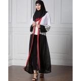 Harga Wanita Chiffon Muslim Abaya Cardigan Renda Lengan Panjang Buka Depan Robe Belted Kaftan Islamic Arab Maxi Dress Black Intl Murah