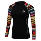 Wanita Kompresi Shirt 3D Dicetak T Shirt Tight Long Sleeve Lapisan Dasar Tipe 2 Intl Murah