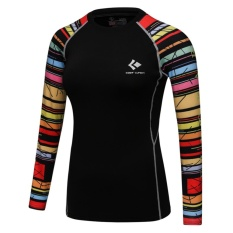 Harga Wanita Kompresi Shirt 3D Dicetak T Shirt Tight Long Sleeve Lapisan Dasar Tipe 2 Intl Satu Set