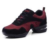 Spesifikasi Wanita Sepatu Dansa Lembut Outsole Napas Sepatu Tari Wanita Olahraga Fitur Dance Sneakers Jazz Hip Hop Sepatu Wanita Fashion Sneakers Merah Dan Harganya