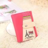 Jual Wanita Menara Eiffel Koin Dompet Pendek Dompet Kartu Pemegang Tas Serbi Hot Merah Muda Di Tiongkok