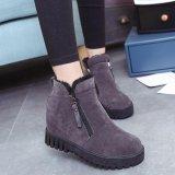 Beli Wanita Fashion Ankle Boots Flats Casual Sepatu Hangat Suede Sepatu Cicilan