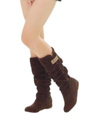 Wanita Fashion Musim Gugur Musim Dingin Boots Renda Manset Internal Yang Meningkat Sepatu