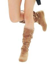 Wanita Fashion Musim Gugur Musim Dingin Boots Renda Manset Meningkat Sepatu Internal-Intl
