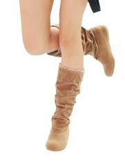 Wanita Fashion Musim Gugur Musim Dingin Boots Renda Manset Internal Yang Meningkat Sepatu-Intl