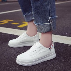 Jual Women Fashion Breathable Women Sneakers Outdoor Comfortable Women Platform Sneakers Fashion White Shoes Intl Oem Asli