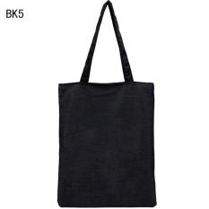 Jual Wanita Fashion Canvas Shopping Handbag Perjalanan Tas Bahu Tote Besar Kapasitas Hitam Shu Kuan Intl Murah Tiongkok