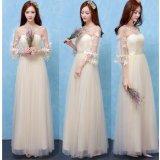 Spesifikasi Wanita Fashion Elegan Pernikahan Gaun Pengiring Pengantin Evening Party Maxi Bodycon Gaun 87 Champagne Intl Online