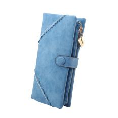 Spesifikasi Fashion Wanita Dompet Panjang Kulit With Tombol Kopling Tas Biru Muda Yang Bagus Dan Murah