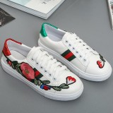 Jual Women Fashion Low Top Sneakers Casual Embroidery Skateboard Shoes Women Small White Shoes Intl Import