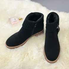 Wanita Fashion Baru Sepatu Kasual Gaya Sekolah Zip Tide Sepatu untuk Anak Perempuan Soft Motorcycle Ankle Boots-Intl