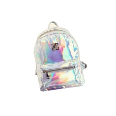 Review Wanita Fashion Newgirl Hologram Holographic Laser Pvc Sch**l Backpack Tas Warna Silver Ukuran 32 25 10 Cm Intl