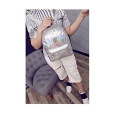 Jual Women Fashion Newgirl Hologram Holographic Laser Pvc Sch**l Backpack Bag Intl Termurah