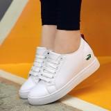 Tips Beli Women Fashion Outdoor Comfortable Sneakers Women Crocodile White Sneakers Shoes Intl Yang Bagus