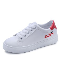 Harga Women Fashion Sneakers Lady Outdoor Leather Flat White Shoes Intl Di Tiongkok