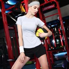 Toko Wanita Fashion Olahraga T Shirt Cepat Kering Bernapas Olahraga Shirt Gym Kebugaran Tops Workout Shirt Menjalankan Pelatihan Elastis Wicking Force Tee Shirt Grey Intl Terlengkap Indonesia