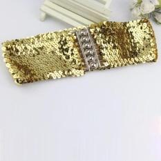 Spesifikasi Wanita Fashion Pinggang Gaun Aksesoris Vintage Manual Sequins Belt Tali Gd Merk Not Specified