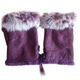 Harga Wanita Faux Rabbit Fur Hand Wrist Warmer Setengah Jari Sarung Tangan Musim Dingin Glove Intl Baru