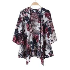 Wanita Floral BoHo Kimono Crochet Sunblock Cardigan Jaket Shirt T Shirt (INTL)