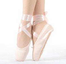 Beli Wanita Gadis Senam Balet Sepatu Satin Perancah Dance Sepatu Kanvas Hard Bawah Acupresses Latihan Sepatu Pink Online