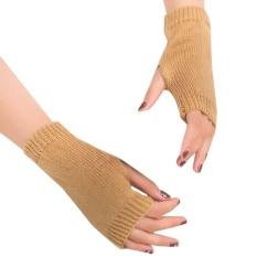 Wanita Gadis Rajutan Lengan Sarung Musim Dingin Yang Hangat Sarung Tangan Sarung Tangan Hangat Lembut KH-Intl