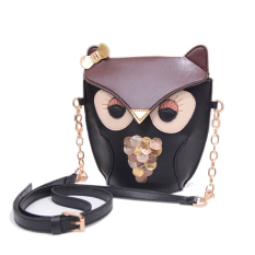 Beli Wanita G*rl Owl Fox Print Shoulder Bag Cross Body Purse Satchel Messenger Handbag Hitam Intl Intl Secara Angsuran